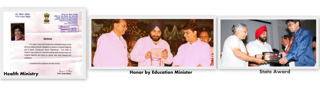 guitarmonk honored by all three ministries