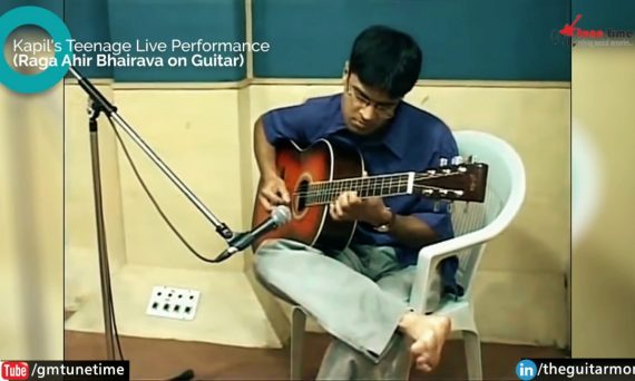 Raga Ahir Bhairav on Guitar Teenage Performance by Guitarist Kapil Srivastava